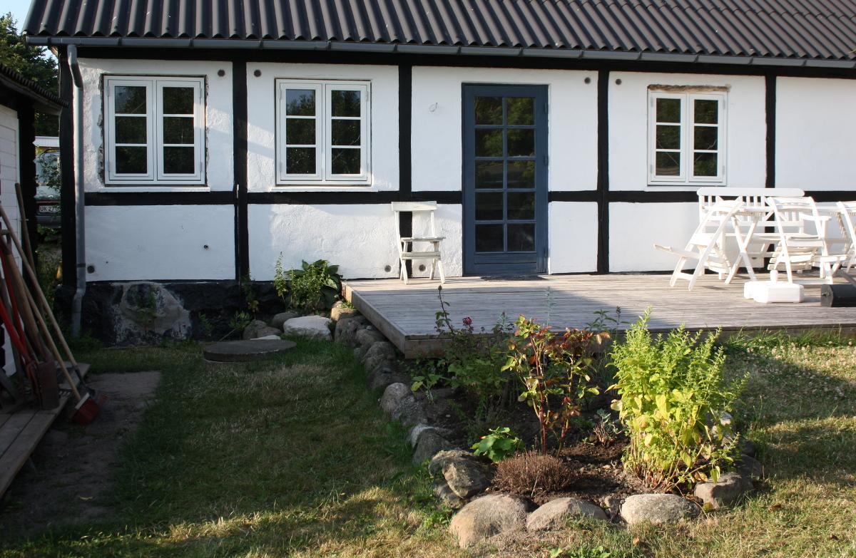 Havesiden med nye vinduer