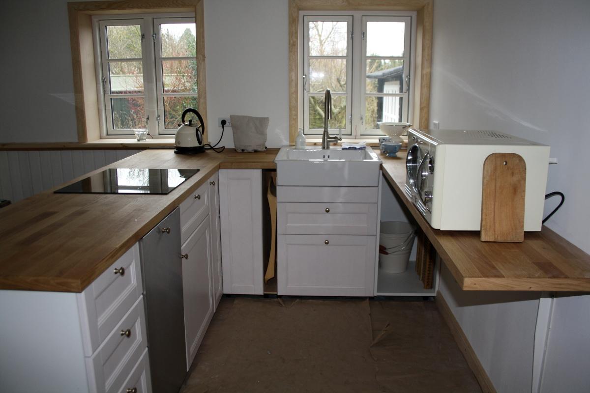 Køkken med vask