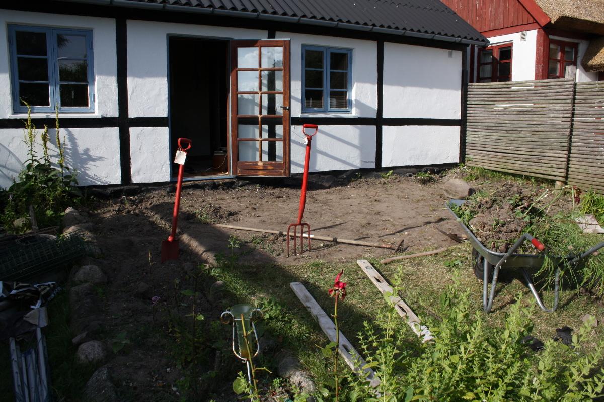 Terrasse uden græs