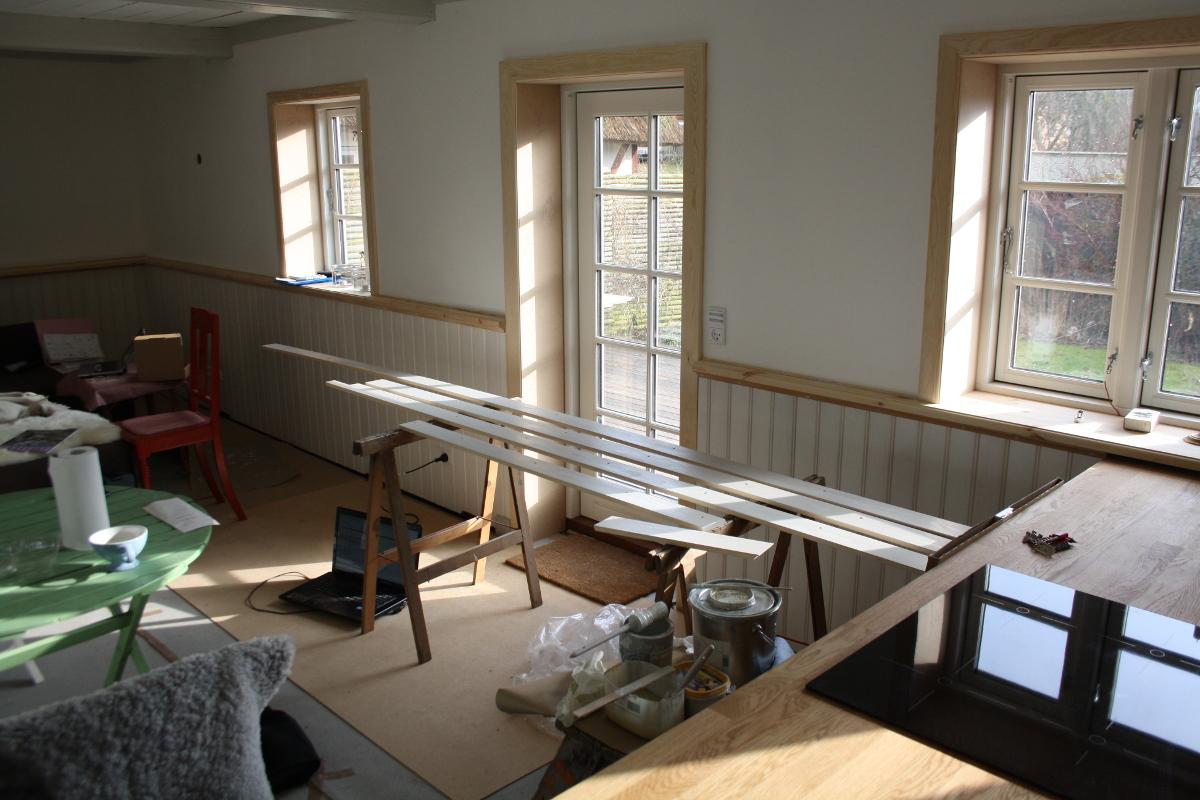 Stuen med maling